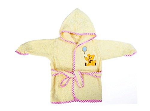Baby Oodles Infant Bathrobe Lemon Teddy Bear