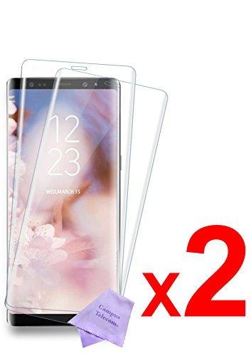 """CAMPUS TELECOM 2 Films Vitre Verre Trempé de Protection écran 100% Transparent (côtés Arrondis) Compatible pour Samsung Galaxy Note 8 (2017)(Écran 6,3"""")"""