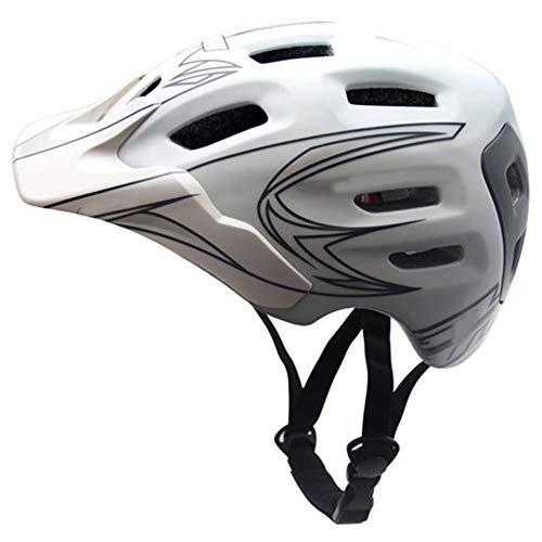 LPC Fahrradhelm Fahrradhelm Ultraleicht Einteiliger Helm Atmungsaktiver Erwachsener Mountain Road Bike Helm Mode (Farbe : White) (Schmutz Bike-helme Für Kinder)