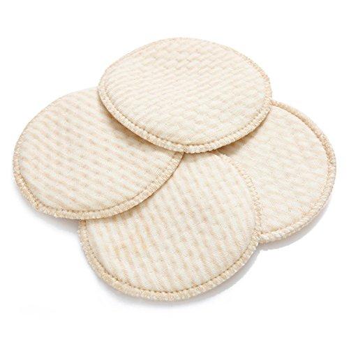 12PCS Soft Organic Baumwolle Stilleinlage Umweltfreundlich & waschbar Stillen Pads Beige