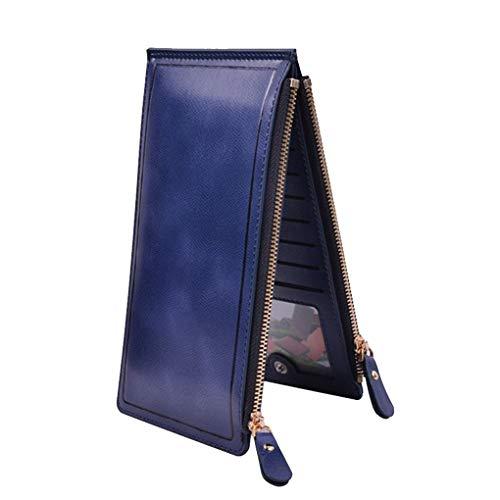 Frauen Arbeiten Lange Mappe Reißverschluss Kopf große Kapazitäts-Bi-Fold-Handtasche mit Multi-Card-Grooves Regard L -