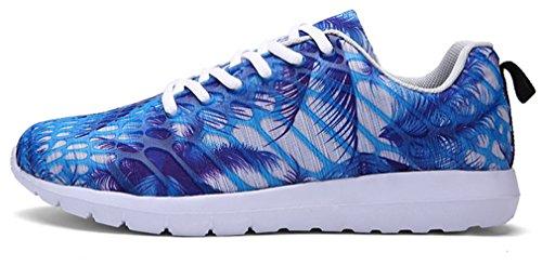 NEWZCERS Unisex hübsche Art und Weise sports Schuhe laufende Turnschuhe Blau