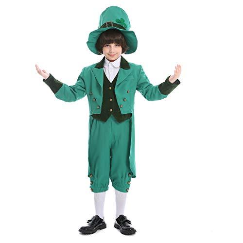 Lucky Kostüm Leprechaun - LOLANTA Child Boy Deluxe Lucky Leprechaun Kostüm für St. Patrick's Day Irland Kostüm