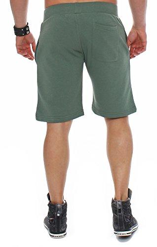 Finchman Herren Cotton Sweat Short Kurze Hose Bermuda Sweatpant Grün