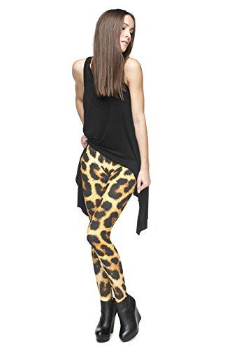 Leggings für Damen/Mädchen, mit 3D-Grafik, elastisch Mehrfarbig - Panther Fur