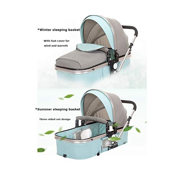GHH Double Strollers Baby Pram Tandem Buggy Newborn Pushchair Ultra Light Folding Child Shock Absorber Trolley Can Sit Half Lying 0-3 Years Old,60kg Maximum,UpgradedversionBlue GHH 1. {Four seasons can be} - Three-sided mesh design, the awning can be adjusted to multiple angles, easy to cope with the sun 2. {75CM high landscape} - Baby can stay away from the ground heat, car exhaust to ensure your baby's health 3. {Multiple shock absorption design} - Body frame spring shockproof, rear wheel, two wheel brakes, wheel spring shockproof, baby safety 4