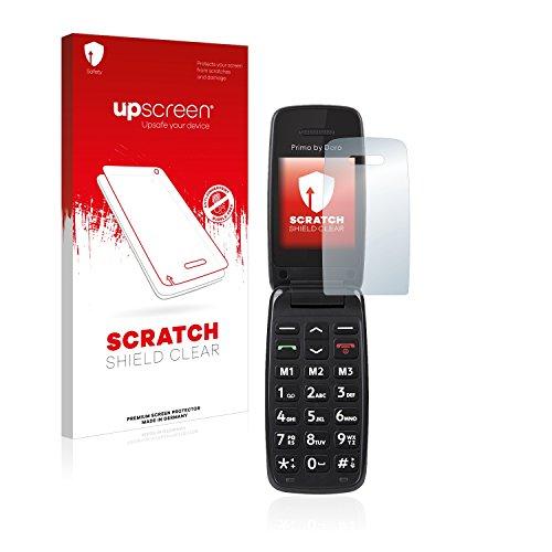 upscreen Scratch Shield Schutzfolie kompatibel mit Doro Primo 401 - Kristallklar, Kratzschutz, Anti-Fingerprint