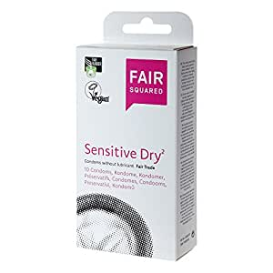 Fair Squared Sensitive dry Kondome, 1er Pack (1 x 10 Stück)