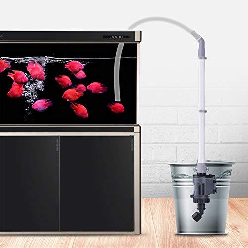 XXDYF Aquarium Syphon Mulmsauger, Elektrische Aquarienkiesreiniger Abnehmbare für Reinigen von kleinem Kies und Wechseln des Aquariums,14w,Power cable5m
