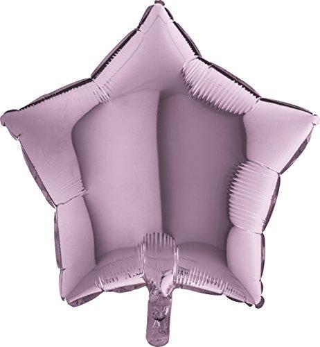 Globo Helio Aire Mylar Foil Estrella Púrpura Plateado