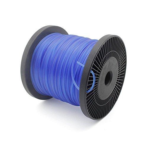 Forever Speed Trimmerfäden Rasen Mähfaden Ersatzfaden Rasentrimmer Nylonfaden Motorsense Trimmerschnur 5-kant Durchmesser 2,4 mm x 100 Meter blau