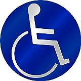 Aufkleber Behinderten-Symbol, reflektierend, blauØ 90 mmAllgemeine Beschreibung:· Hochwertige Reflektions-Folie im Siebdruck bedruckt.· Dadurch sind alle Aufkleber witterungs-, benzin- und UV-beständig!· Größe: Ø 90 mm· Selbstklebend!· Reflektierend!...
