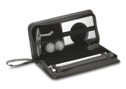 Golfset für das Büro - mehrteilig aus Golfbällen, Golfloch, zerlegbarem Golfschläger und schwarzem Golf-Put-Etui mit Reißverschlusstasche – Perfekt für jeden Bürohengst Golfschläger-sets Frauen
