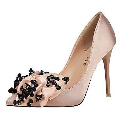 Moda Donna Sandali Sexy donna tacchi Comfort inverno abito in seta Stiletto Heel Bowknot nero / rosa / viola / grigio chiaro / Beige a piedi beige