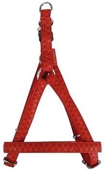 Zolux Mac Leather Harnais Réglable pour Chien Rouge 20 mm
