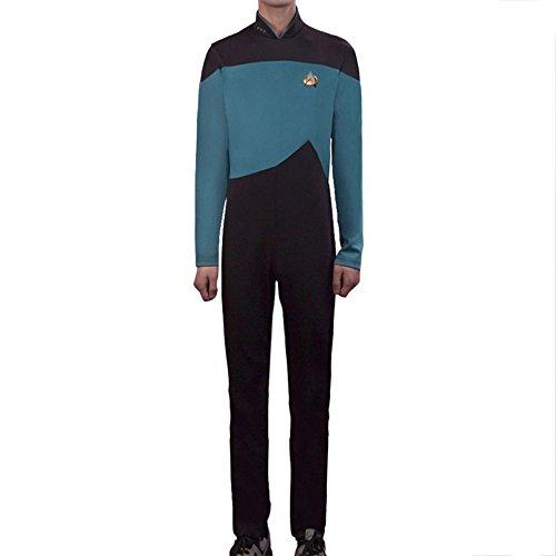 Trek Star Jumpsuit Kostüm - nihiug Star Trek Star TrekTNG Next Generation Cosplay Kapitän Jumpsuit Uniform,Blue-L