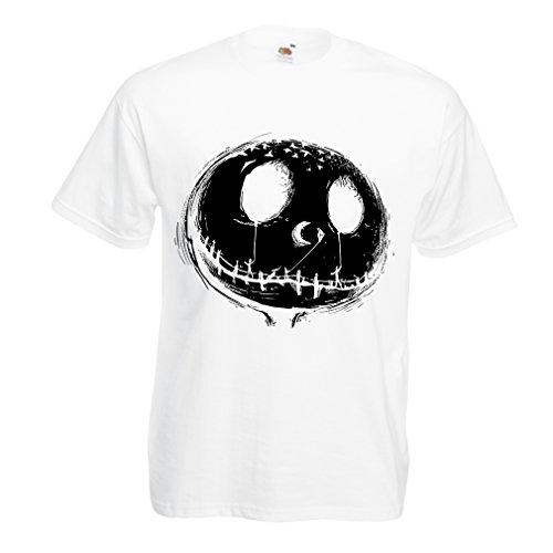 hirt beängstigend Schädel Gesicht - Alptraum - Halloween-Party-Kleidung (XX-Large Weiß Mehrfarben) (Kostüm Ideen Beängstigend)