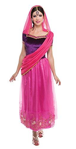 Kostüm Prinzessin Für Erwachsene Asiatische - Bristol Novelty AC225 Bollywood Kostüm, Mehrfarbig, Size 10-14