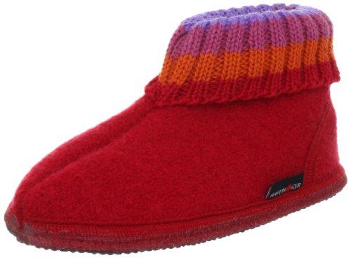 Haflinger Paul, Unisex-Kinder Hohe Hausschuhe, Rot (Ziegelrot 85), 27 EU