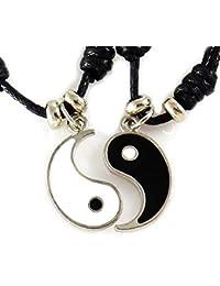 8ae0b2935340 AKIEE Collar Yin Yang para Hombre Mujer Niños Niñas Ajustable Colgante  Taichi Collar Pareja Mejores Amigos Best…