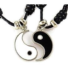 76439298071d AKIEE Collar Yin Yang para Hombre Mujer Niños Niñas Ajustable Colgante  Taichi Collar Pareja Mejores Amigos