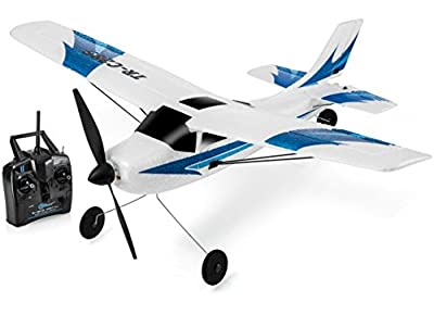 Top Race 3 Channel Remote Control Airplane, Built in 6 Axis Gyro System Super Easy to Fly RTF (TR-C285) from Hobbit Village