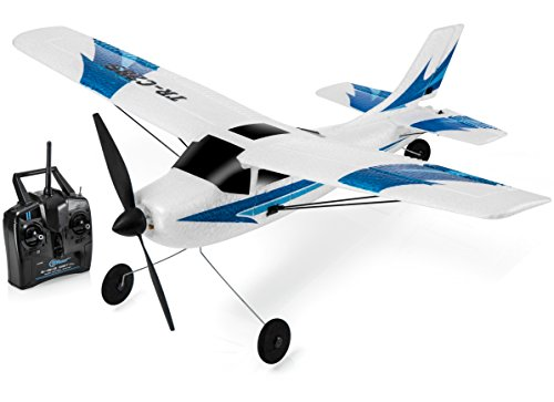 Top Race 3 Channel Remote Control Airplane, Built in 6 Axis Gyro System Super Easy to Fly RTF (TR-C285)