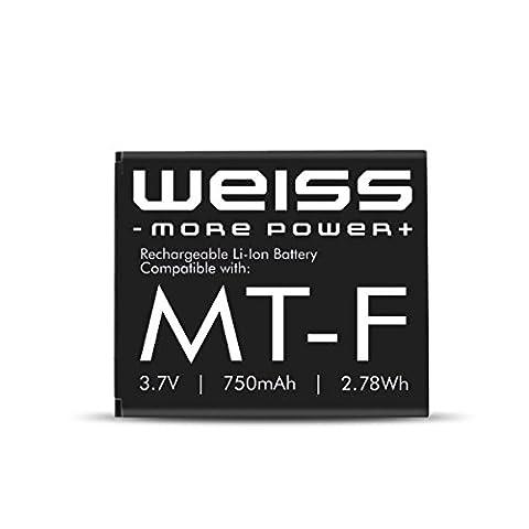 WEISS Akku für Fritz!Fon C4 / C5 / M2 / MT-F [ersetzt: AVM 312BAT016 (Akku Fritz Fon C4, Akku Fritz Fon M2) / 312BAT006 (Akku Fritz Fon MT-F / Akku Fritz Fon C5] 750mAh