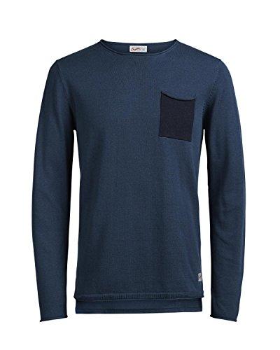 Jack & Jones Herren Pullover JorSaer 12114325 Sweatshirt Navy