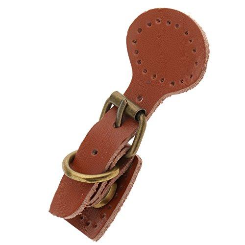 Sharplace Annähen Leder Magnetische Snap Schnallen DIY Tasche Handtasche Ersatz - Khaki Echt Leder Snap