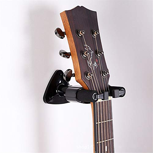 KIKIRon-MusicalInstrument Gitarrenwandhalter Gitarrenhaken Automatic Lock Gitarrenwandhaken Aufhänger Ukulele Gitarre E-Gitarre Klassische Violine (Farbe : Schwarz) -