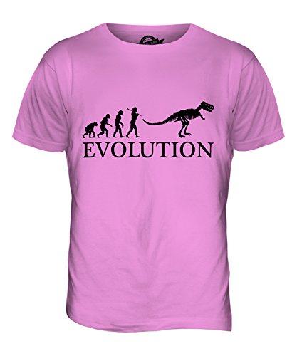 CandyMix Tyrannosaurus Rex T-Rex Evolution Des Menschen Herren T Shirt Rosa