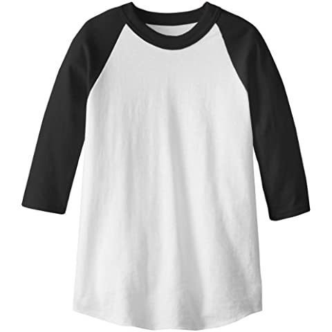 soffe Raglan Béisbol undershirt – Black – Youth Small