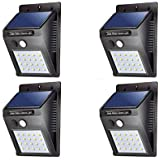 ASGTRADE Solar Sensor Wall Light in Night, Product for Garden, Swimming Pool, Balcony and high Security Area.-4 Pieces Set