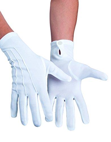 Boland 03081 - Handschuhe XL mit Druckknopf, Einheitsgröߟe, weiß