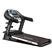 Sparnod Fitness STH-4200 (4.5 HP Peak) Automatic Treadmill (Free Installation Service) - Foldable Motorized Walking & Running Machine for Home Use - with Massager & Auto Incline