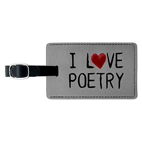 I love Poetry geschrieben auf Papier Leder Gepäck ID Tag Koffer Handgepäck