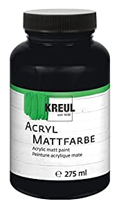 KREUL 75020 - Acrílico Color Mate, 275 ml Vidrio, Negro