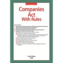 Taxmann's Companies Act with Rules (Paperback Pocket Edition) (32nd Edition 2020)