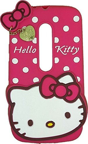 Dream2Cool Hello Kitty Soft Rubber Silicone Pink Back Cover Case for Motorola Moto G3 G 3rd Gen/Moto G Turbo - Pink