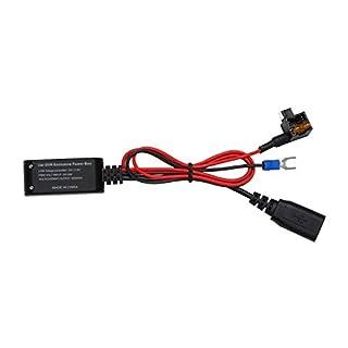 auto-vox Hardwire Kit Low-Profile Mini-Sicherung Adapter mit USB Port Hub für Yi Armaturenbrett Rova Dash Cams A1C1C1Pro C2VCR Recorder Kameras, Smartphones und jedes Gerät benötigen mit USB-Kabel