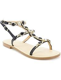 Toocool - Scarpe donna sandali infradito gioiello gladiatore flat Queen  Helena 6004 e12b3d71a1f