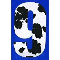 MONOGRAM Wheelie Bin numbers Sticker For House or Cow Pattern