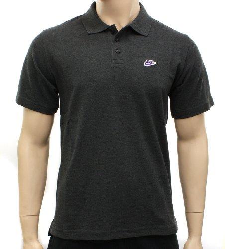 NIKE BASIC HERREN POLO SHIRT PIQUE GOLF TENNIS SPORT & FREIZEIT TEE HEMD GRAU, Größe:S;Farbe:Dunkelgrau - Pique-tennis-shirt