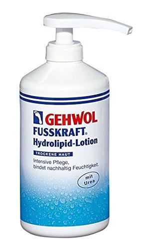 GEHWOL Fusskraft Hydrolipid Lotion, Fusscreme, mit Urea, trockene Füsse, 500 ml mit Spender