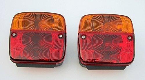 Paar Traktor Trailer Stop Tail Flasher Licht (LH + RH) (mit Leuchtmittel) -11002302