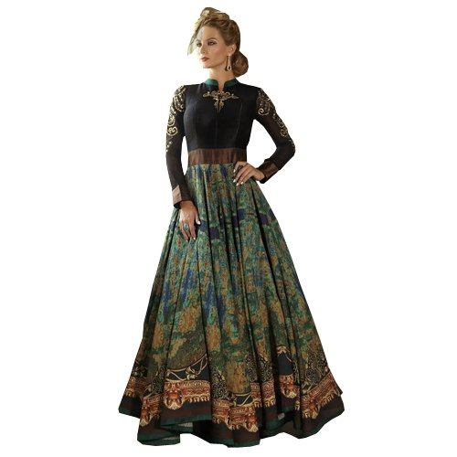 Rct Fashion Women\'S Cotton Silk Anarkali Lehenga Choli (X5-0Skt-Rq50_Green_Free Size)