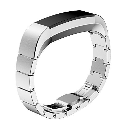 Watch Band per Fitbit alta, Ihee in acciaio INOX di sport da polso Wristband per Fitbit alta Smart Watch, donna Uomo, Silver, 135-210mm