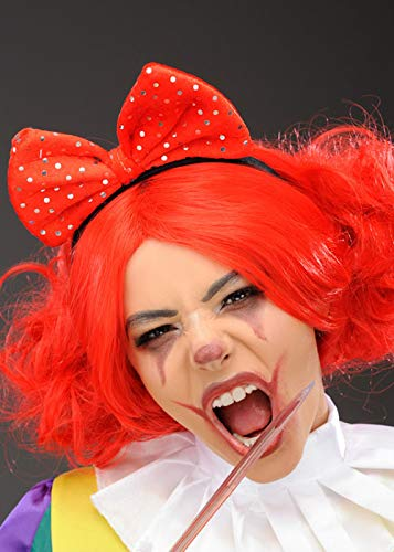 Magic Box Int. Roter Scary Clown Hair Bow auf Stirnband (Bows Rot Hair)