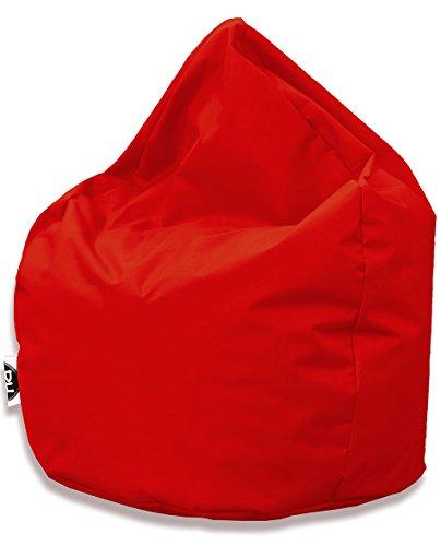 Sitzsack Tropfenform für In & Outdoor | XXL 420 Liter - Rot - in 25 versch. Farben und 3 Größen